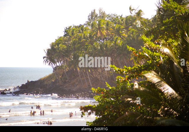 Playa EL Cuco, El Salvador Stockbild