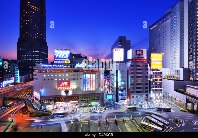 Shibuya, Tokio, Japan Stadtbild. Stockbild
