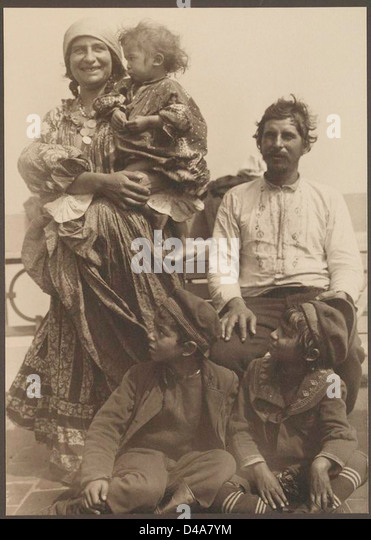 [Zigeunerfamilie.] Stockbild