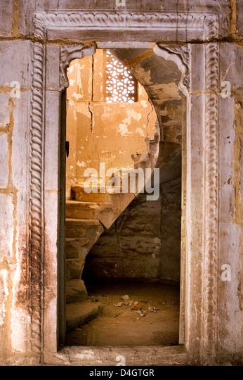 Morvi Tempel (Sekretariat) ein Verwaltungsgebäude mit einem Hindu-Tempel im Zentrum, Morvi, Gujarat, Indien Stockbild