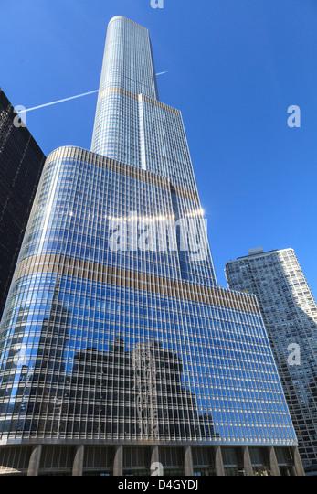 Trump Tower, Chicago das zweithöchste Gebäude, Chicago, Illinois, USA Stockbild