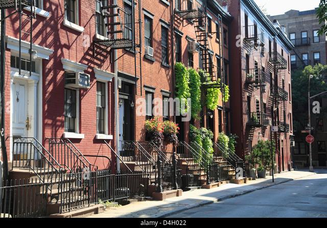 Gay Street, Greenwich Village, West Village, Manhattan, New York City, USA Stockbild