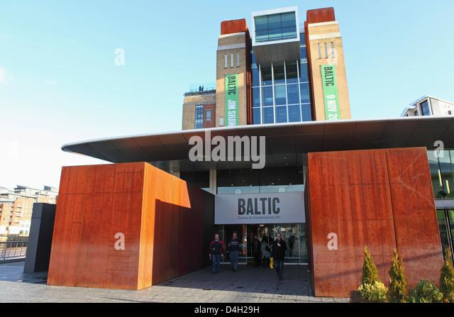 Eingang des Baltic Centre for Contemporary Art, Gateshead Quays, Gateshead, Tyne and Wear, England, UK Stockbild