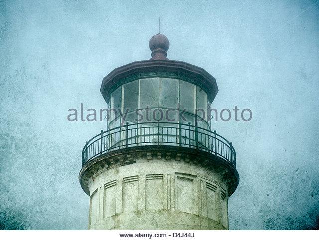 Leuchtturm am Cape Enttäuschung State Park, Washington, USA Stockbild
