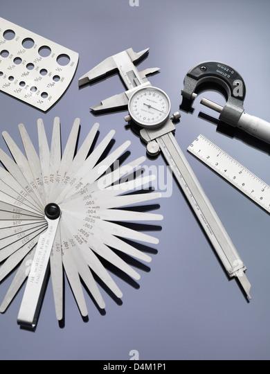Engineering-Mess-Tools, die in der Industrie Stockbild