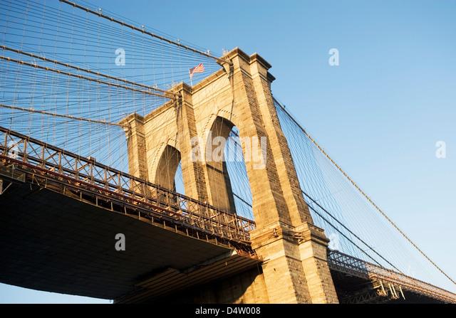 Brooklyn Brücke in New York City Stockbild