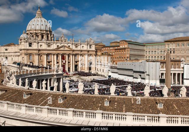 Italien Vatikanstadt Rom Papst Franziskus Einweihung Stockbild