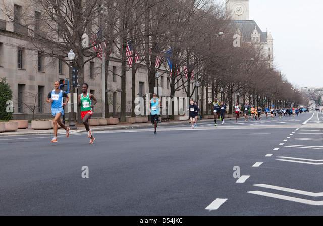 Marathonläufer Stockbild