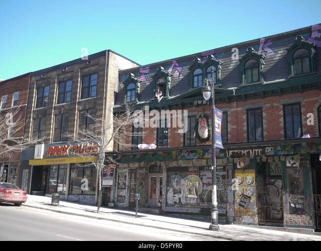 Montreal-Straße Nachbarschaft Stockbild