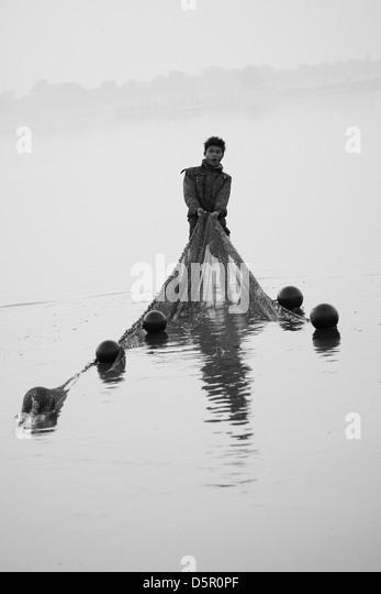 Fischer, Amarapura, Myanmar Stockbild