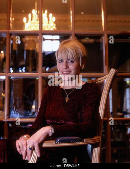 Kate Saunders, Autorin, Schauspielerin und Journalistin. Stockbild