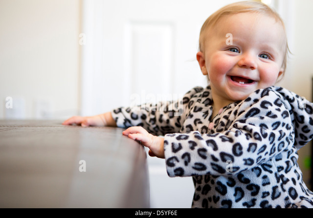Lachendes Babymädchen Stockbild
