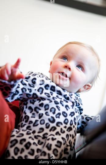 Porträt von Baby Girl Stockbild