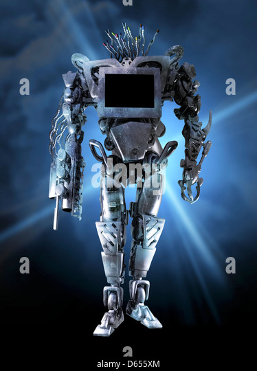 Militärische Roboter, konzeptuellen Kunstwerk Stockbild