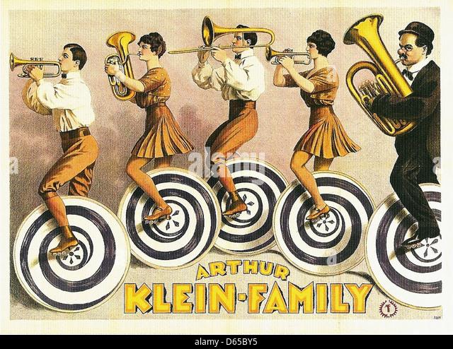 Die Familie Arthur Klein, 1923 Stockbild