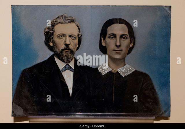 der 1800er Ferrotypie Foto Stockbild