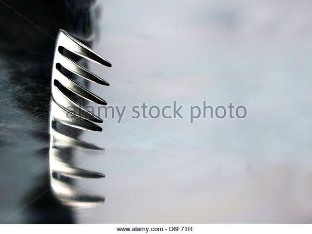 Gabel-Reflexion Stockbild