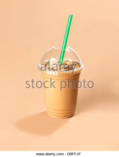 Geeiste Kaffee trinken Stockbild