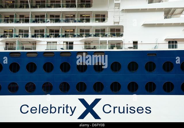 Celebrity Cruise Ship detail. Stockbild