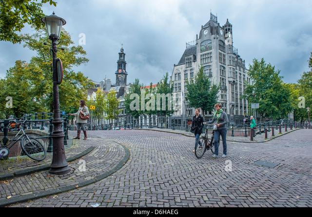 Amsterdam Straßenbild Stockbild