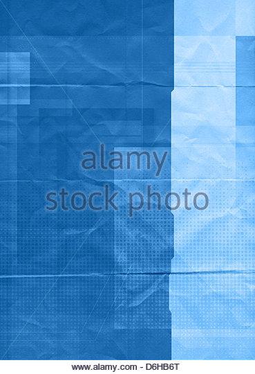 grafisches Papier blau Stockbild