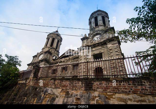 Anglikanische Kathedrale in der Hauptstadt St. Johns in Antigua, Antigua und Barbuda, West Indies, Karibik, Mittelamerika Stockbild