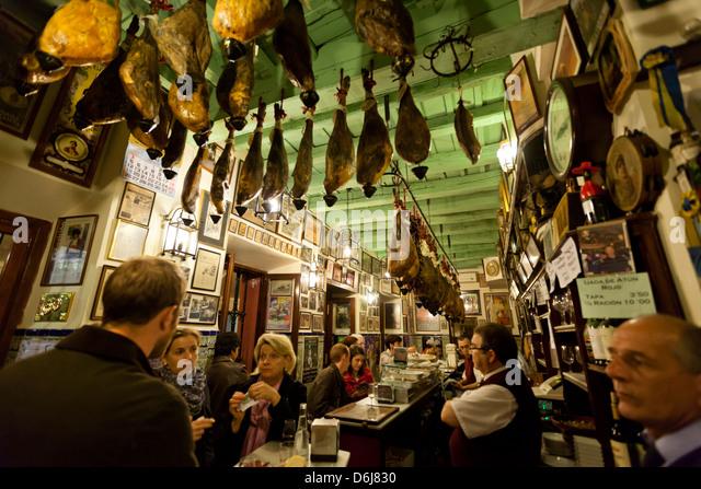 Bar Las Teresas, Sevilla, Andalusien, Spanien, Europa Stockbild
