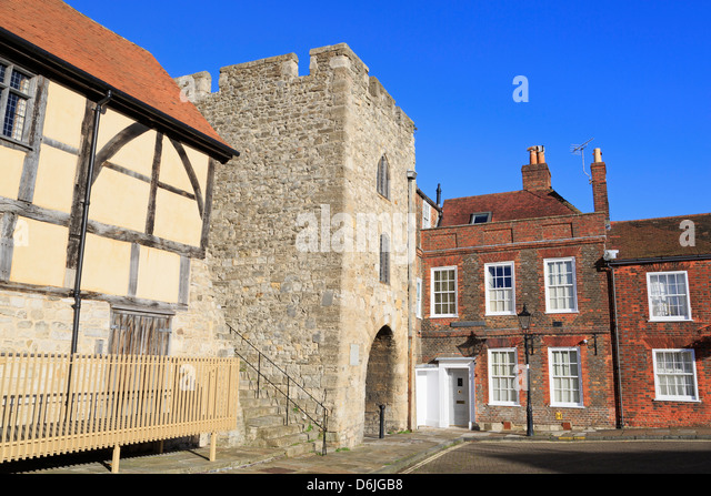 Westgate in alten Stadtmauern, Southampton, Hampshire, England, Vereinigtes Königreich, Europa Stockbild