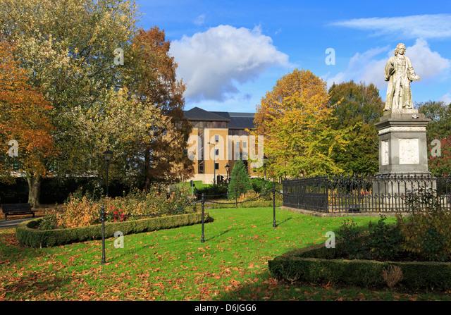 Isaac Watts Statue im West Park, Southampton, Hampshire, England, Vereinigtes Königreich, Europa Stockbild