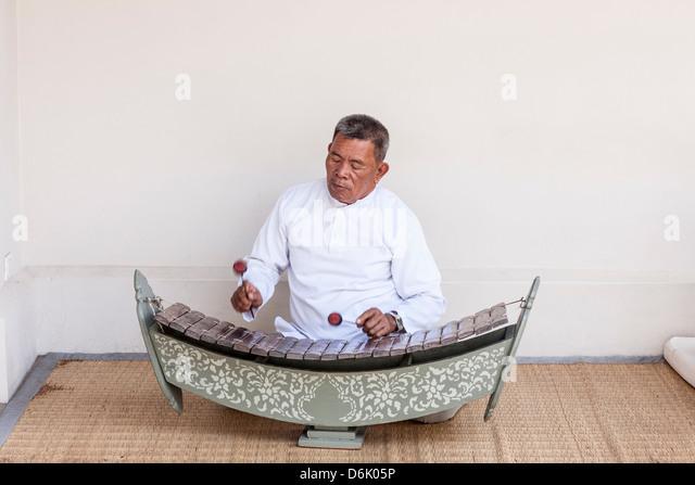Musiker, Luang Prabang, Laos, Indochina, Südostasien, Asien Stockbild
