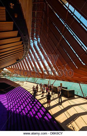 Innenansicht, Sydney Opera House, Bennelong Point, Sydney, New South Wales, Australien Stockbild