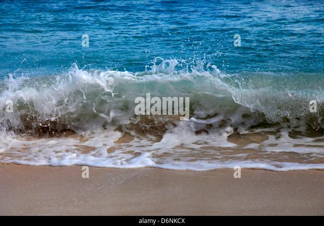 Welle stürzt an der Küste. Caribian Meer Stockbild