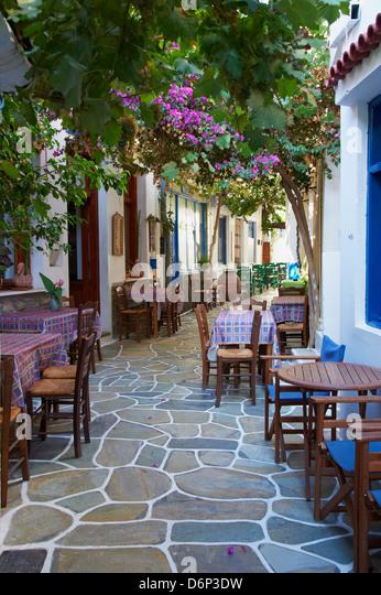 Driopida, altes Dorf, Kythnos, Cyclades, griechische Inseln, Griechenland, Europa Stockbild