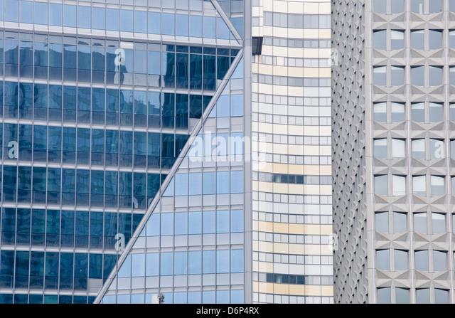 Zusammenfassung von Gebäuden in La Défense Viertel, Paris, Frankreich, Europa Stockbild