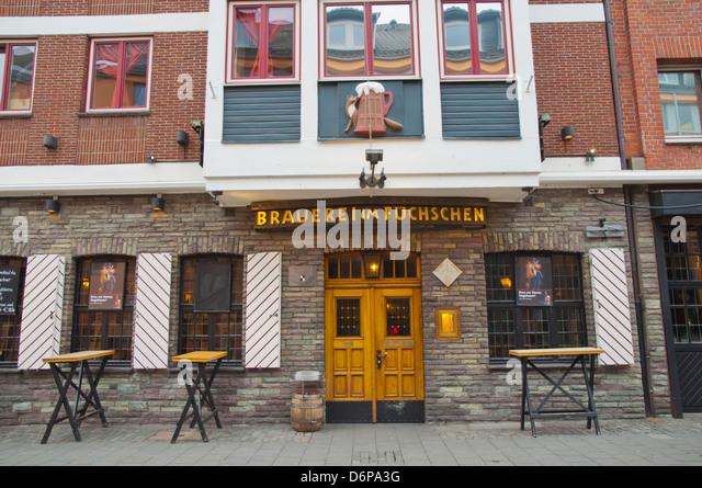 Brauerei Im Fuchschen Bier Hall Restaurant äußere Altstadt der alten Stadt Düsseldorf Stadt Nordrhein Stockbild