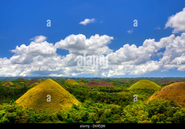 Chocolate Hills Stockbild