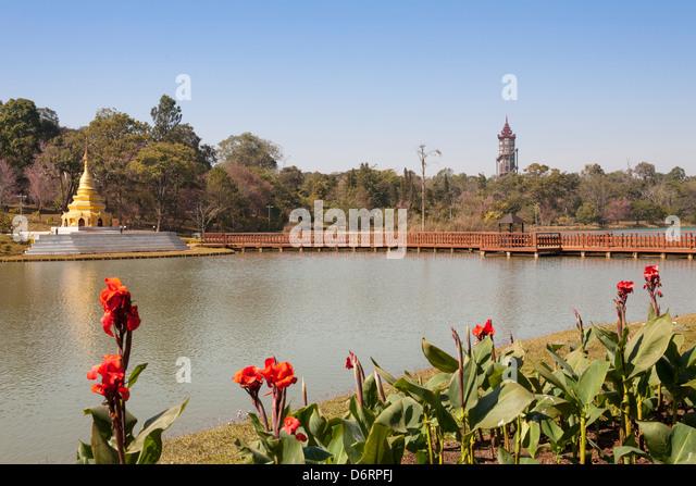 Kandawgyi Nationalgarten, Pyin Oo Lwin, auch bekannt als Pyin U Lwin und Maymyo, in der Nähe von Mandalay, Stockbild