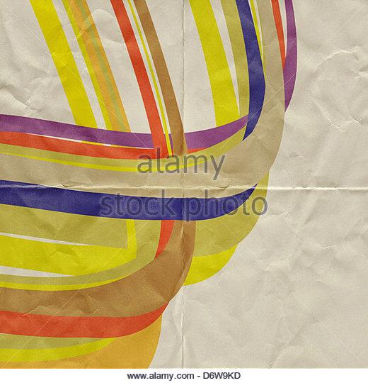 abstrakte Papier Grafik Stockbild