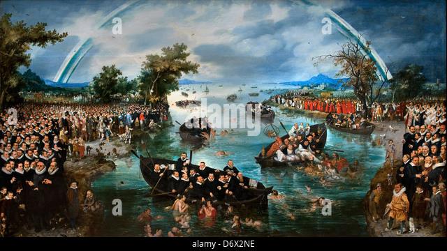 Die Seele Angeln 1614 Adriaen Pietersz. Van de Venne (1589-1662) Niederlande Niederlande Stockbild