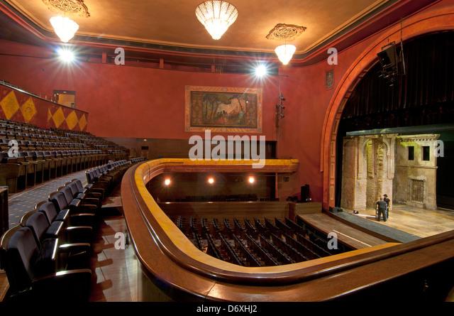 Villamarta Theater-Interieur, Jerez De La Frontera, Provinz Cádiz, Region Andalusien, Spanien Stockbild