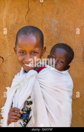 Masai Kinder, Masai Mara, Kenia Stockbild