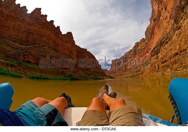 Bucht-Canyon, Colorado River, Glen Canyon National Recreation Area, Utah, USA Stockbild