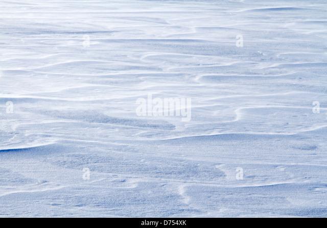 Detail der Formen im Schnee. Stockbild