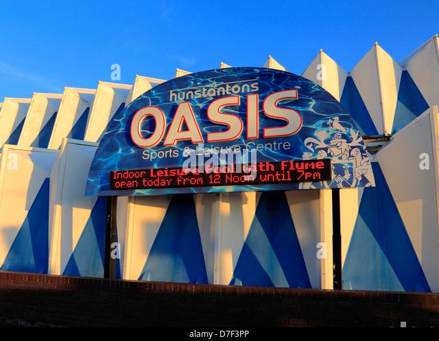 Hunstanton Norfolk, The Oasis Sport- und Freizeitzentrum, zentrieren, England UK Stockbild