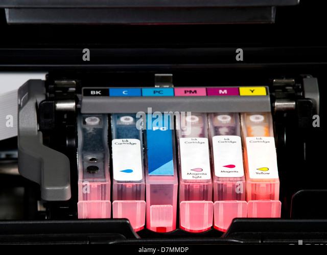 Druckerpatrone Farbe Stockbild