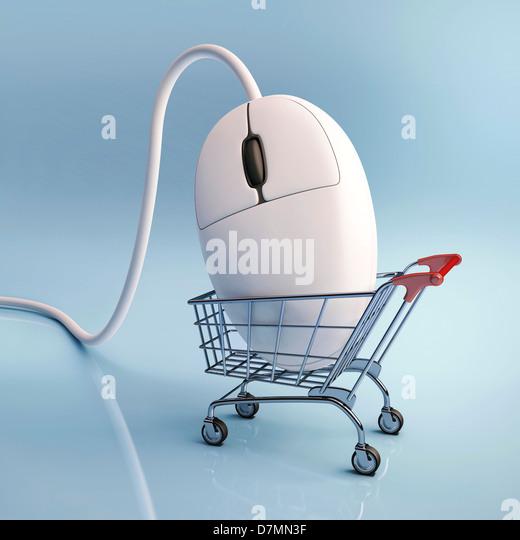 Internet shopping, konzeptuellen Kunstwerk Stockbild
