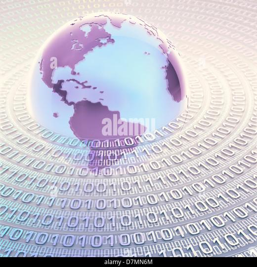 Digitale Welt, konzeptuellen Kunstwerk Stockbild
