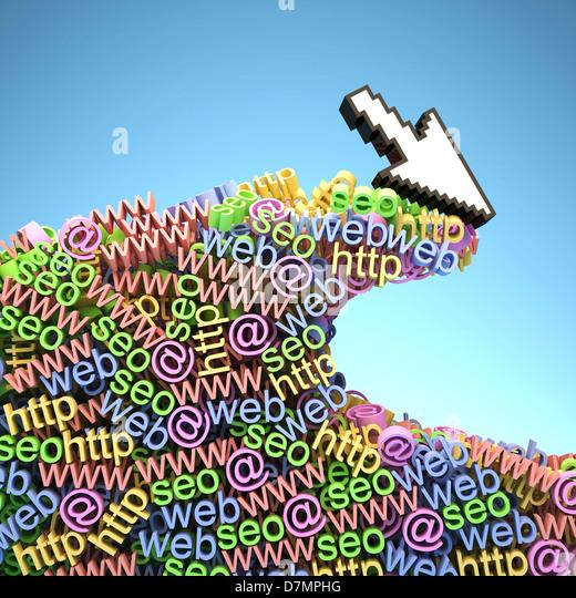 Internet-surfen, konzeptuellen Kunstwerk Stockbild