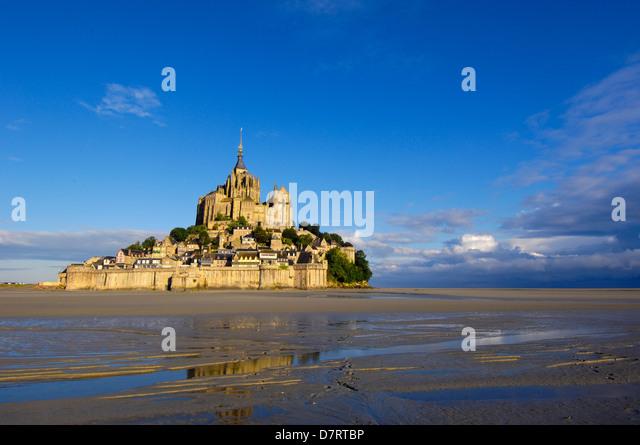 Mont-Saint-Michel (Benediktinerabtei). Normandie. Frankreich Stockbild