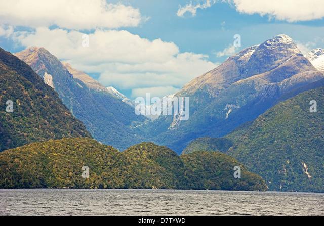 Zweifelhaft, Sound, Fjordland National Park, UNESCO Welt Erbe Website, Southland, Südinsel, Neuseeland Stockbild